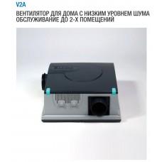 V2A 032 Вытяжной вентилятор на 2 помещения для квартир и домов, расход воздуха 80 м³/ч