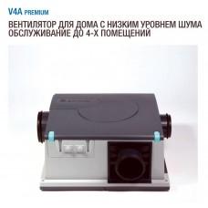 V4A 336 premium Aereco вытяжной вентилятор на 4 помещения для квартир и домов, расход воздуха 210 м³/ч