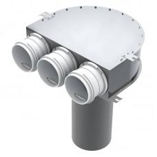 BlauFast RPZ 125/75х3 M - пленум потолочный круглый на три выхода d=67 мм