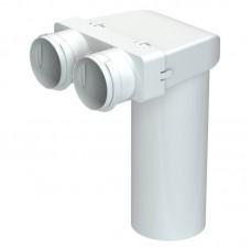 BlauFast RPZ 125/75х2 Пленум потолочный, пластиковый, круглый на два выхода d=67 мм