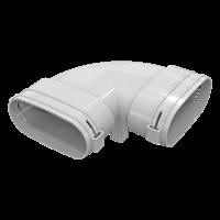 BlauFast OBH 52 отвод для соединения воздуховода 117×52 мм.