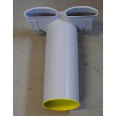 FRÄNKISCHE profi-air Tunnel Угольник 90º туннельной формы для диффузора двойной 132 x 52 мм. - Ø 125 мм. (арт. 78313282)