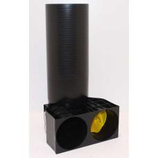 FRÄNKISCHE profi-air Classic Угольник 90º классической трубы Ø 90 для диффузора Ø 125 мм. (арт. 78390381)