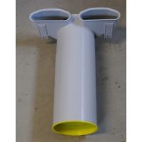 FRÄNKISCHE profi-air Угольник 90° туннельной формы, двойной для диффузора 132х52 мм (арт. 78313282)