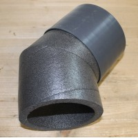 IP-B 125/45 Колено IsoPipe 45 °, с муфтой (арт. 09399)