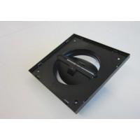 XD Рамка для решетки Ø125 - 174 x 174 мм. (с регулируемым зазором), черная, про-во Бельгия (арт. 801118)