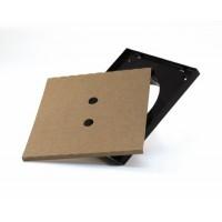 XD Рамка для решетки Ø125 - 174 x 174 мм. (стандартная), черная, про-во Бельгия (арт. 801187)