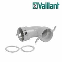 Vaillant колено на 90° без монтажного основания для воздуховода Ø 90/75 мм. (арт. 0020180878)