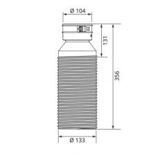 Vaillant прямой адаптер Ø125 мм. для воздуховода Ø 90/75 мм. (арт. 0020180881)
