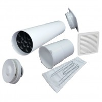 Velco VT-100 VILPE Приточный клапан с белой вент.решеткой 150 х 150 (арт. 8010000)