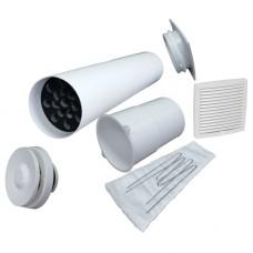 Velco VT-100 Приточный клапан в стену с термостатом и фильтром (комплект с белой наружной решеткой)