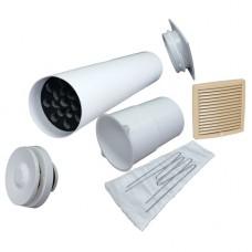 Velco VT-100 Приточный вентиль в стену с фильтром и бежевой решеткой (комплект)