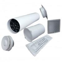 Velco VT-100 VILPE Приточный клапан с серой вент.решеткой 150 х 150 (арт. 8010007)