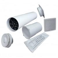 Velco VT-100 VILPE Приточный клапан с светло - серой вент.решеткой 150 х 150 (арт. 8010003)
