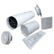 Velco VT-100 Приточный клапан в стену с термостатом и фильтром (комплект с светло - серой наружной решеткой)