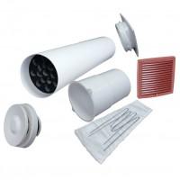 Velco VT-100 VILPE Приточный клапан с красной вент.решеткой 150 х 150 (арт. 8010008)