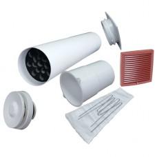 Velco VT-100 Приточный клапан в стену с термостатом и фильтром, с шоколадной наружной решеткой (арт. 801000+79332B)