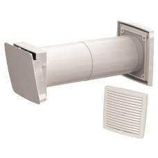 Wive 100 Приточный клапан с термостатом, фильтр, белая вент. решетка (арт. 380030 + 793320)