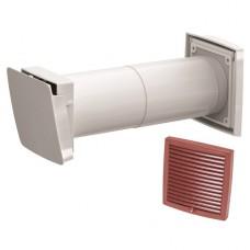 Wive 100 Приточный клапан с термостатом, фильтр, красная вент. решетка (арт. 380030+793328)