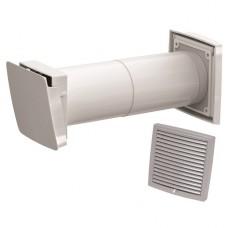 Wive 100 Приточный клапан с термостатом, фильтр, светло-серая вент. решетка (арт. 380030+793323)