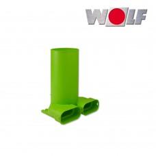 Wolf Коннектор для вентиляционной решетки, канал 50 х 100 мм., решетка DN125, 90°, длина 240 мм. (арт. 2576172)
