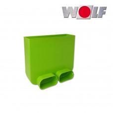Wolf Соединитель для гибкого плоского канала 50 х 100 мм. и напольной решётки (арт. 2576173)