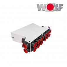 Wolf Воздухораспределитель DN125 для CWL-F-150, 10 подключений DN75/63 с 5 колпаками (арт. 2577417)