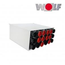 Wolf Воздухораспределитель DN160 для CWL-F-300, 9 подключений DN75/63 с 5 колпаками (арт. 2577607)