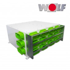 AES Воздухораспределитель DN160 для CWL-F-300 2 x 9 подключений 50 x 100 мм. с 5 колпаками (арт. 2577608)