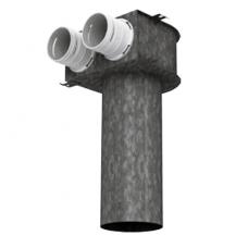 BlauFast RPZ 125/63х2 M Пленум потолочный круглый