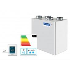 Domekt-R-500-V-HE Вертикальная приточно-вытяжная установка с автоматикой C6.1