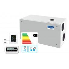 Domekt R-600-H-HE Горизонтальная приточно-вытяжная установка с автоматикой C6.1