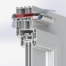 AEA 1151 AL Телескопический канал для установки приточных устройств EHA2 в светопрозрачных конструкциях, цвет «белый», 50-71мм