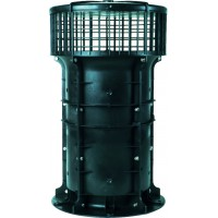 VBP 043 Гибридный вентилятор VBP ms для многоэтажных домов, расход воздуха 400 м³/ч, макс. давление 14 Па, мощность 16 Вт, подключение через блок управления, 12V