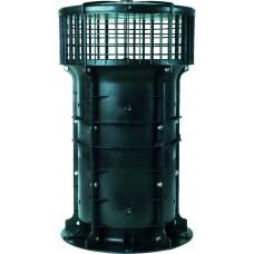 VBP042 Гибридный вентилятор VBP st для многоэтажных домов, расход воздуха 400 м³/ч, макс. давление 17 Па, мощность 16 Вт, 8-12V
