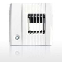 BXC214 hpd, вытяжное устройство, гигрорегулируемый расход воздуха 12-80/130 м³/ч, пиковый расход от датчика присутствия, задержка включения 60 сек, соединение Ø100мм, 3V DC