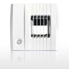 BXC 214 hpd, вытяжное устройство, гигрорегулируемый расход воздуха 12-80/130 м³/ч, пиковый расход от датчика присутствия, задержка включения 60 сек,  соединение Ø100мм, 3V DC