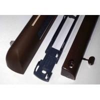 EHM1280 (EMM2)  Комплект приточного клапана на окно и наружного козырька: EНM 1283 + AEA 733, цвет по RAL 8017 (тик)