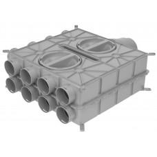 Wolf Воздухораспределитель DN125-180 16 подключений DN75 4 колпака  (арт. 2577596)