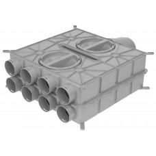 Wolf Воздухораспределитель DN125-180 8 подключений DN75 4 колпаками (арт. 2577595)