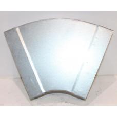 Helios FK-BH 150/45 Колено плоскоканальной системы, горизонтальное 150 x 50 мм, 45° оцинкованная листовая сталь (арт. 2910)