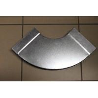 Helios FK-BH 150/90 Колено плоскоканальной системы, горизонтальное 150 x 50 мм, 90° оцинкованная листовая сталь.