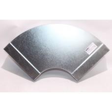Helios FK-BH 200/90 Колено плоскоканальной системы, горизонтальное 200 x 50 мм, 90° оцинкованная листовая сталь (арт. 2911)
