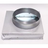 Helios FK-ER 200/160 Концевик плоскоканальной системы 200 x 50 мм, 90°, разъем для круглого воздуховода, диаметр 160 мм. (арт. 2936)