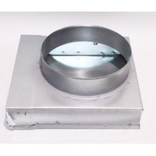 Helios FK-ER 150/125 Концевик плоскоканальной системы 150 x 50 мм, 90°, разъем для круглого воздуховода, диаметр 125 мм. (арт. 2935)