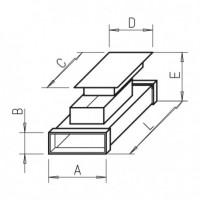 Helios FK-RZ 200 Элемент с ревизионным лючком Длина 500 мм, высота 50 мм, ширина 200 мм, оцинкованная листовая сталь (арт. 2931)