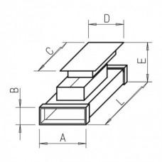 Helios FK-RZ 150 Элемент с ревизионным лючком Длина 500 мм, высота 50 мм, ширина 150 мм, оцинкованная листовая сталь (арт. 2930)