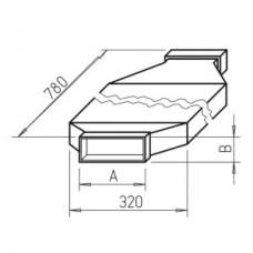 Helios FK-SD 150 Шумоглушитель плоскоканальной системы 150 x 50 мм, длина 1500 мм, ширина 400 мм, оцинкованная листовая сталь (арт. 2945)