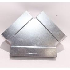 Helios FK-Y 150/150/150 Плоскоканальная система, Y-образный тройник 3 x 150 x 50 мм, оцинкованная листовая сталь (арт. 2927)