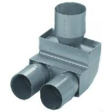Helios FRS-B 75/2-63 Короткое колено FlexPipe, 90° 1 x 75 мм, 2 x 63 мм (арт. 9341)